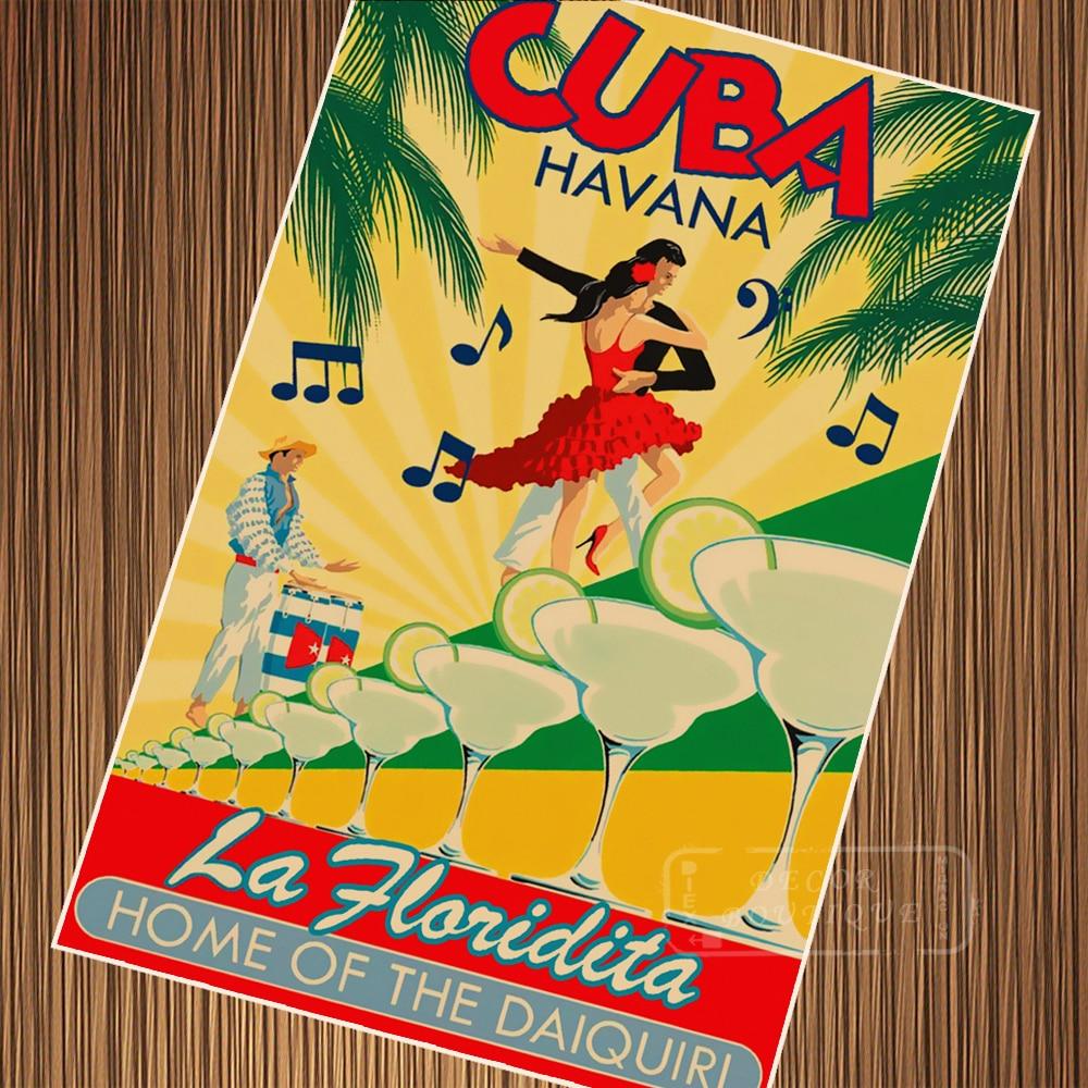 7 Choices City Havana Cuba Pop Art Travel Poster Vintage Retro ...