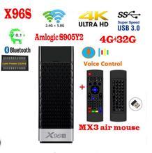 X96S tv stick android 8,1 amlogic s905Y2 H.265 2,4/5G WI-FI BT4.2 Core 64bit cortex a53 Мини ПК x96 max mini