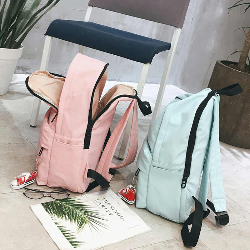 da4e48ca73 School Backpack Women School bag Back Pack Leisure Korean Ladies Knapsack  Laptop Travel Bags for Teenage