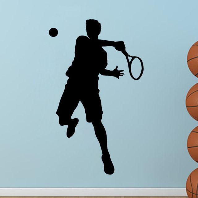 Kopfteil Tennis Sport Spieler Wand Aufkleber Tennis Wandtattoo Sport  Wandaufkleber