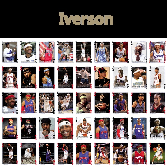 30fee4feb50 Various Choice NBA super stars playing cards Iverson Michael Jordan Tracy  McGrady Kobe Bryant Wade LeBron