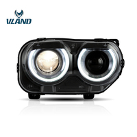 Vland Factory Car Accessories Head Lamp for Dodge Challenger 2015 up LED Head light plug and play design