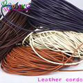3mm 5M Craft Round Genuine Leather Cords Cord/Wire 2016 new Mixed multicolor choker earrings Bracelet necklace jewelry making
