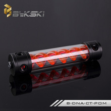 Фотография Light Double helix T-Virus Acrylic 260mm Cylinder Water Reservoir Water tank Computer Water Cooling Coolant tank Glow RED BLACK