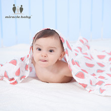 MIRACLE BABY Soft Cozy 100% Bamboo One Layer Baby Muslin Swaddle Warp Blanket Nursing Cover Baby Stroller Blanket Unisex Cushion
