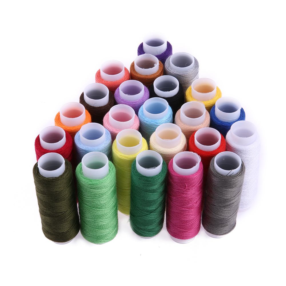 24 Colors 200 Yard Polyester Embroidery Sewing Threads For Hand Sewn&Machines Patchwork Sewing Threads Sewing Accessories
