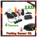 Car Led Display 4 Sensors 22mm 12v 6 Colors Reverse Assistance Backup Radar Monitor Parking Sensor System, free Shipping