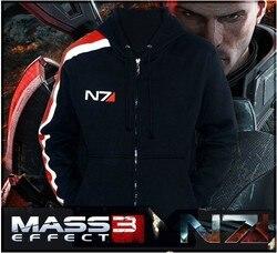 a778810f39b ГОРЯЧАЯ Mass Effect 3 N7 100% Хлопок Косплей Толстовка Пальто Костюм Куртка  P   D