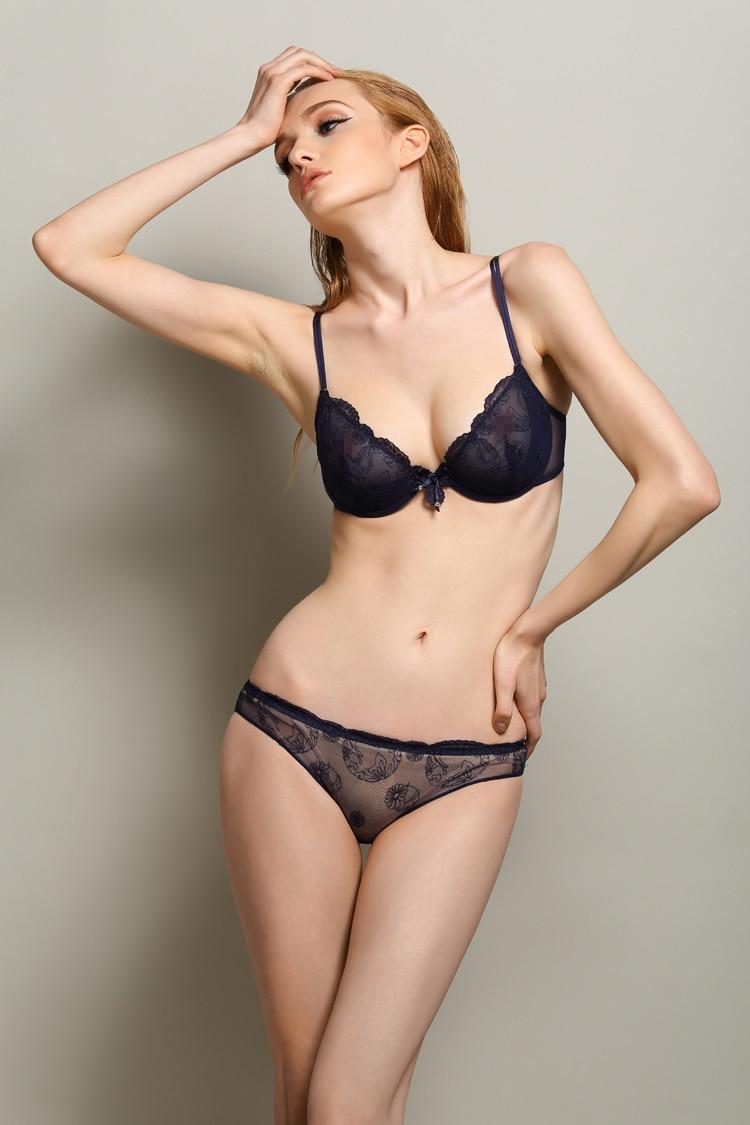 6b94e996b2 S52 Bra Set Ultra-thin Sexy Comfortable Lace Bowknot Bra Set Women s  Underwear Lingerie White