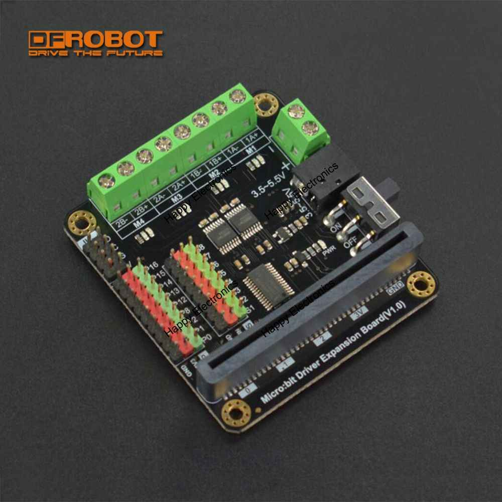 DFRobot Micro: bit Microbit Driver controlador de condução/Placa de Expansão com 4-way Motor drives + interfaces 8-way servo para as crianças