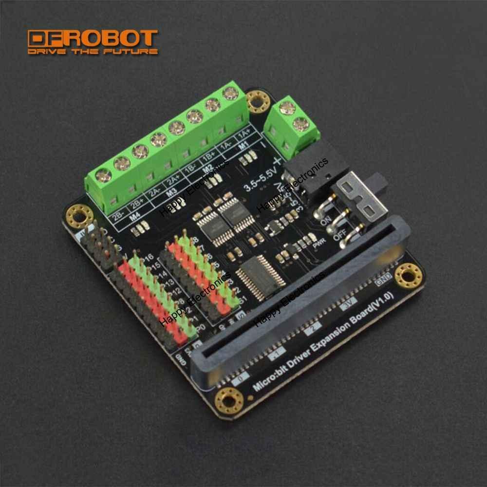 Dfrobot micro: controlador de condução do motorista do microbit do bocado/placa de expansão com movimentações do motor de 4 vias + interfaces servo de 8 vias para crianças