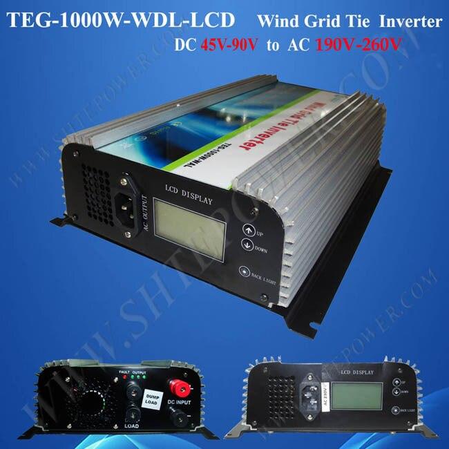grid tie inverter 48v dc grid tie micro inverter 240v ac 1kw with lcd dsiplay inverter
