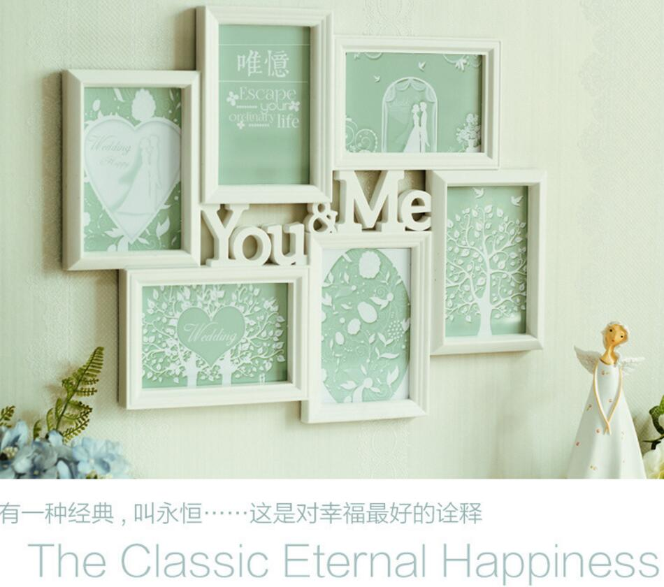 1 satz Kreative kunststoff spritzguss glas rahmen hanging wall 6 ...