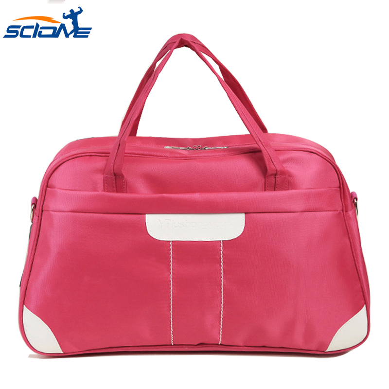 Scione Nylon Waterproof Sports Gym Bag Women For Gym Fitness Training Shoulder Handbag Travel Sports Duffles Sac De Sport Bag