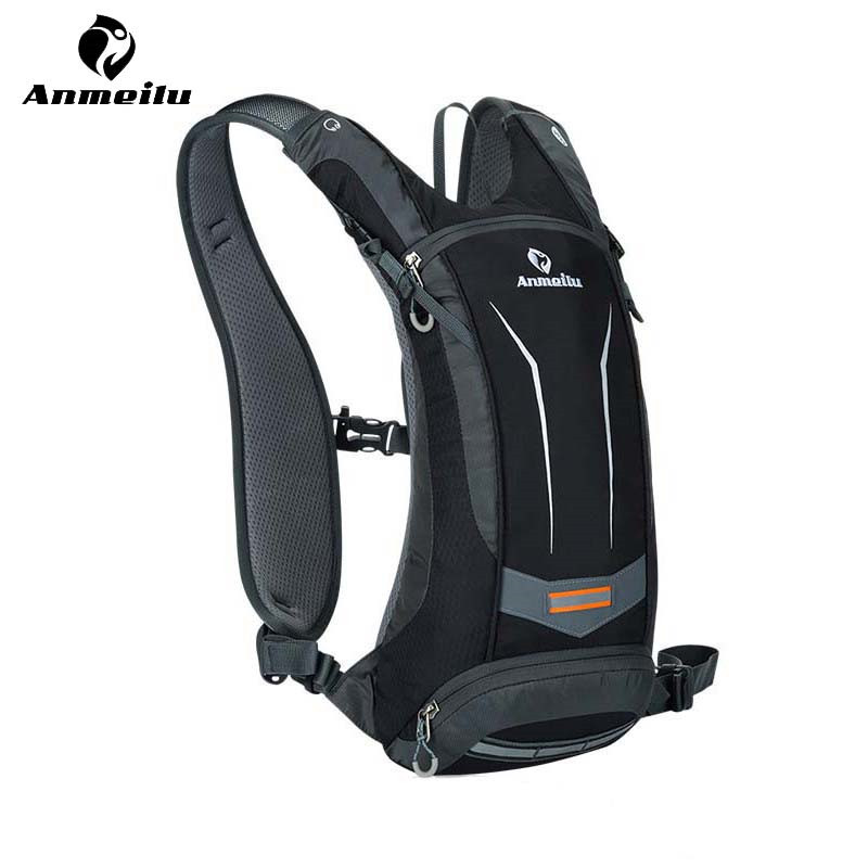 ANMEILU Waterproof MTB Bicycle Bike Bag Mochila Ciclismo 5 Colors Outdoor Sports Cycling Backpack Hydration Pack + 2L Water Bag 2017 men gift enmex brief design gentlemancreative geometric designs floating pointer 3d dail with young fashion quartz watches