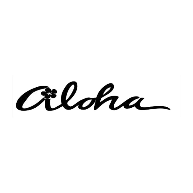 17.8*3.5CM ALOHA Hawaii Style Stylish Car Styling Decal Cool Car Body Stickers Cover Black/Silver C9-0485 17 8 5 9cm made in my garage funny car styling car stickers decal car styling motorcycle body cool covers black silver c9 0581