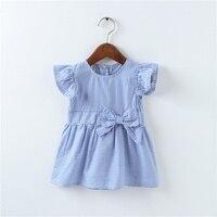 New Baby Girl Dresses Striped Vestidos Cotton Sleeveless A-Line Dresses Casual Kid Clothing  Infantil Princess Dresses