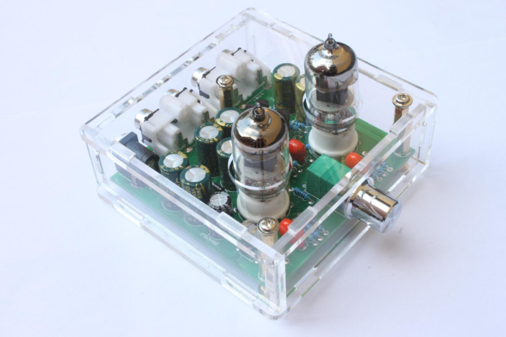 finishe 6J1 Valve Pre-amp Tube PreAmplifier Board Headphone Amplifier Buffer