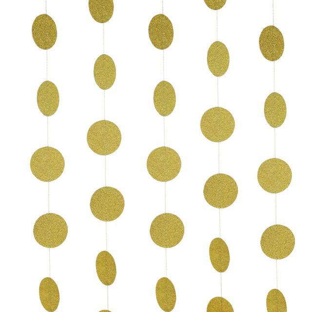 2553a181cbc4 Gold Sparkly Glitter Circles Hanging Gold Circle Garland DIY Glittery Circle  Confetti Garland Wedding Bridal Shower Birthday