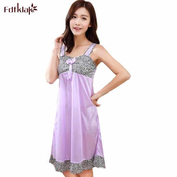 df795f909f Female nightgowns new 2019 fashion women sleepwear spaghetti strap sexy  ladies night wear summer night dress