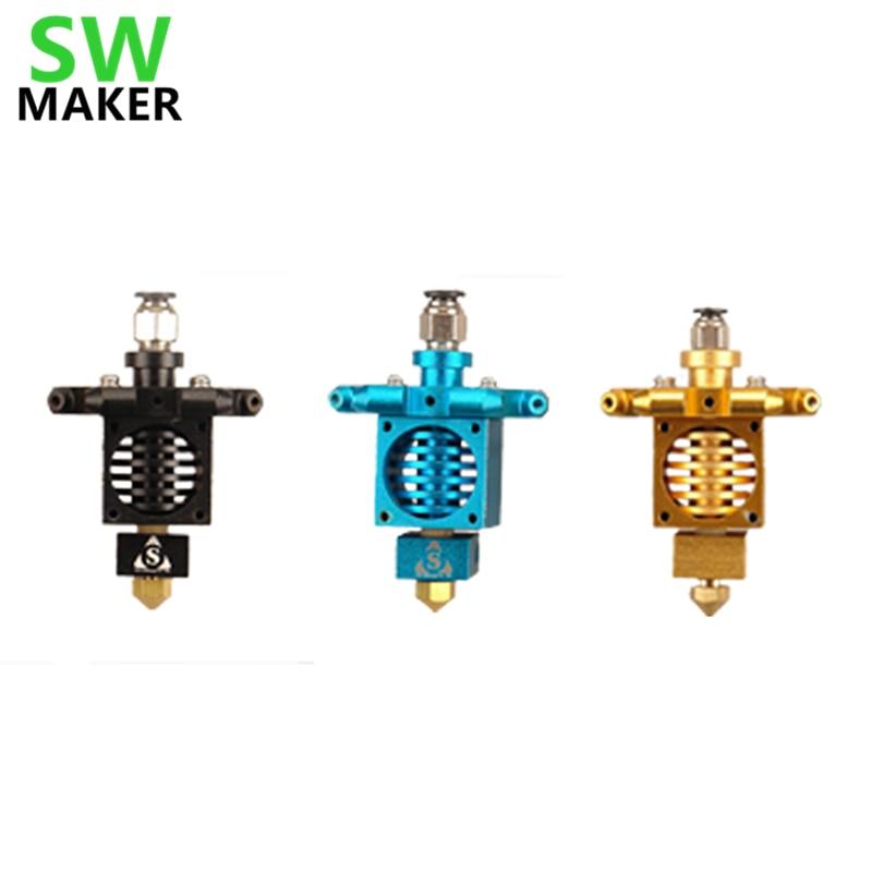 Kossel Mini Delta 3D printer all metal nozzle hotend kit/set 1.75 mm all metal chimera multi color extrusion hotend kit for delta kossel 3d printer 1 75 mm ntc 3950 thermistor heater cartridge