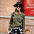 Veri Gude Women Pullover Casual Sweatshirt Appliques
