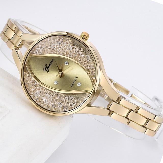 Luxury Rhinestone Watches For Women Bracelet Watch Stainless Steel Women's Watch