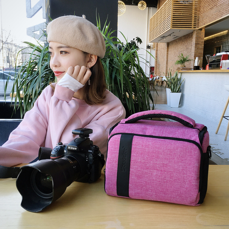 DSLR Camera Bag Case <font><b>Cover</b></font> For <font><b>Canon</b></font> 5D 5DMarkII 5D3 5D4 <font><b>550D</b></font> 6D 60D 60Da 6D MII M3 M5 M10 M100 M50 Waterproof Shoulder Bag image