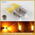 7443 7440 Led car lâmpadas 80 W 16SMD 3030 Âmbar W21/5 W de Alta potência da lâmpada fonte de luz do carro estacionamento sinal de volta Amarelo