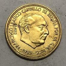 1953 Испания 2,5 песет-Франко имитация монеты