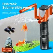 3 Вт 5 Вт мини фильтр для аквариума 3в1 внутренний фильтр для аквариума кислородные погружные водяные насосы для аквариума пруд фильтры для аквариума