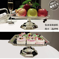 Square WROUGHT IRON Plate With Silver Cake Frame High Dry Fruits Snacks Try To Eat Disc