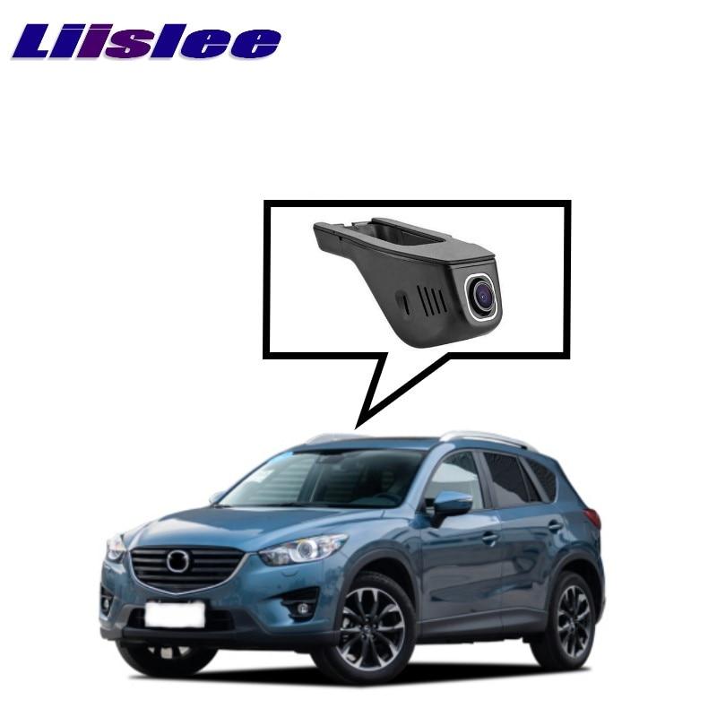 LiisLee черного ящика WiFi автомобиля видеорегистратор тире камеры вождения видео рекордер для Мазда CX-5 КЭ 2012~2017