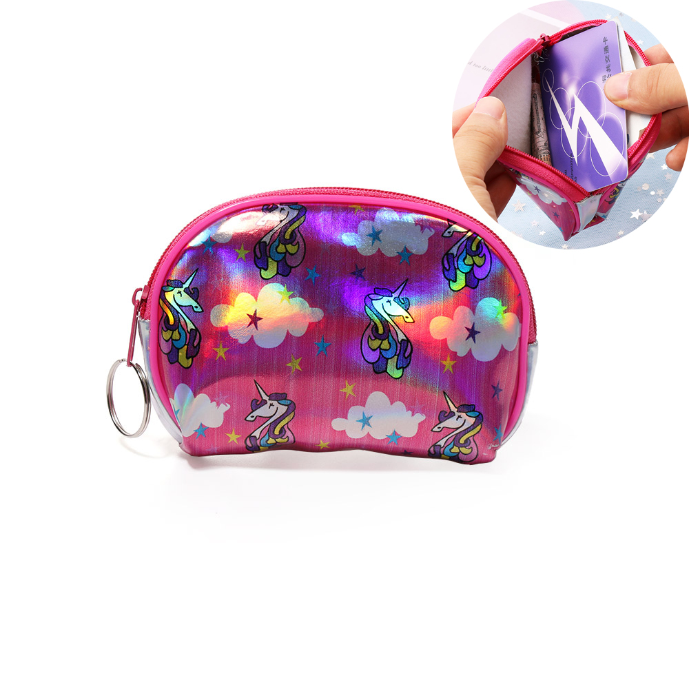 Coin Purses Lovely Creative Laser Unicorn Coin Bag Colorful Simple Purses Holder Money Pouch Kids Wallets Headset Storage Children Girl Mini Gift 50% OFF Coin Purses & Holders