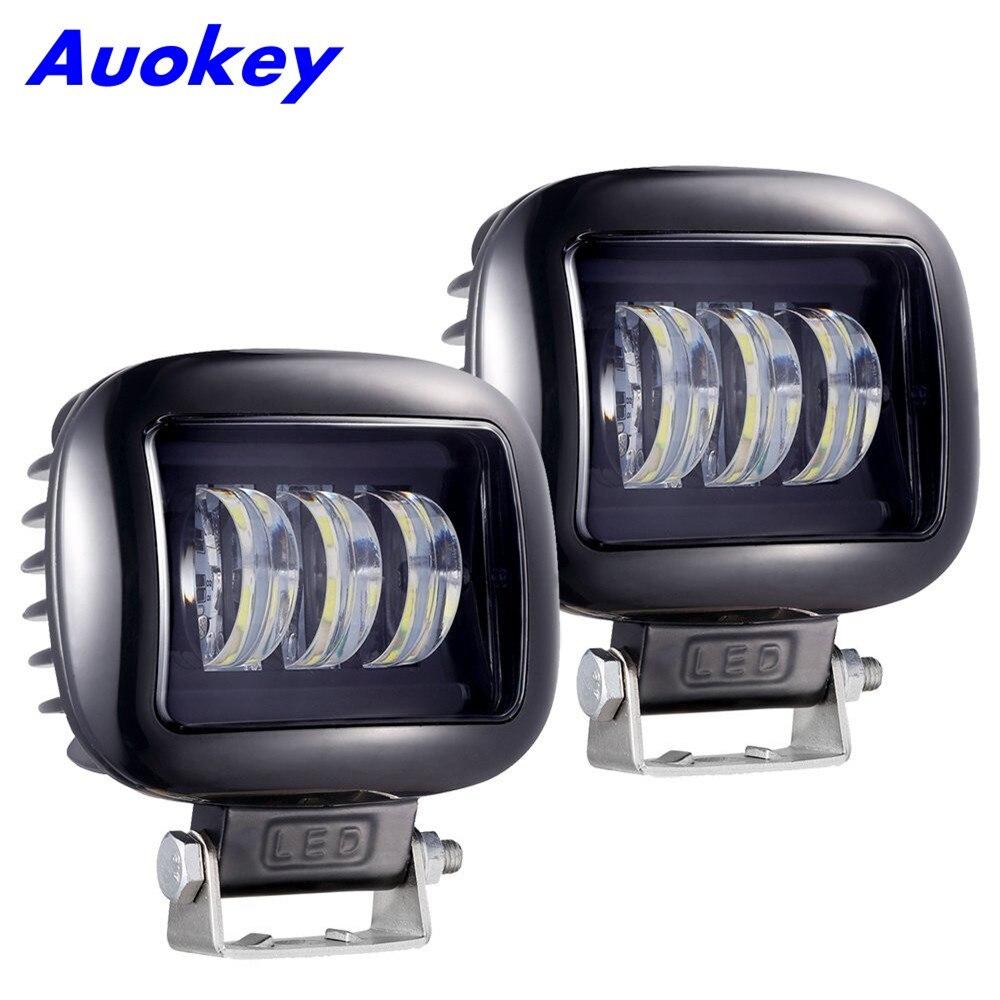 Krator 2 stücke 30 watt Scheinwerfer Nebel Licht Off Road Fahrzeuge Platz Führte Arbeit Lampe Auto Styling Lampe Für SUV jeep ATV