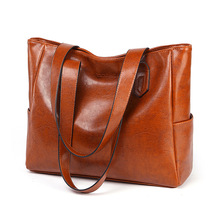 Brand High Quality Casual Lady Hand Bag Oil Wax Leather Handbags For Women 2019 Ladies Fashion Messenger Bag Large Capacity Tote high quality women shoulder bags fashion women handbags oil wax leather large capacity tote bag casual pu leather messenger bag