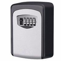Keybox กุญแจล็อคปลอดภัยกล่องโคมไฟติดผนังกลางแจ้งรหัสผ่านล็อคกุญแจซ่อนกล่องเก็บความปลอดภัยต...