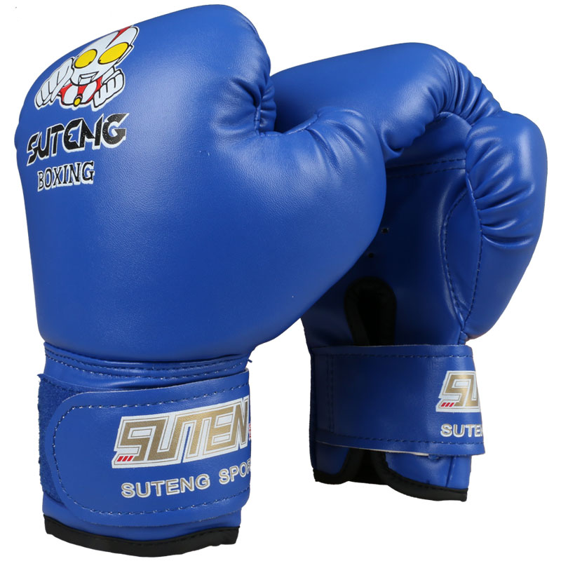 Дети мультфильм Спарринг ММА начало Бой перчатки для бокса красный синий Training Муай Тай Санда каратэ перчатки для бокса age4-8