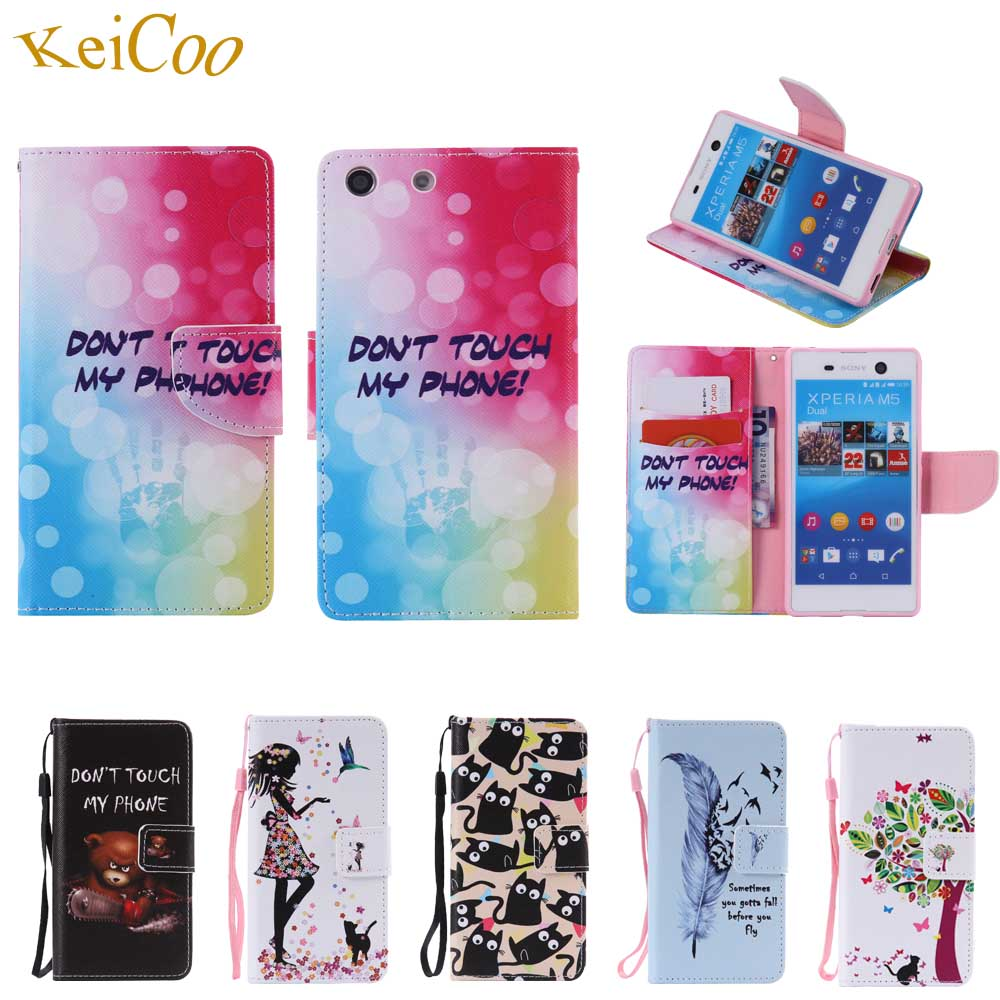 buy popular ca35e 2a2da For mobile Sony Xperia M5 M5Lte E5603 E5653 phone cases Flip Wallet Covers  For hoesjes SONY M5 M 5 Dual E5633 E5643 E5663 cover-in Wallet Cases from  ...