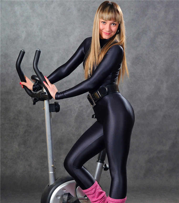 All-inclusive Siamese Tights Jumpsuit High Elastic Lycra Spandex Calisthenics Shiny New Racing Suit