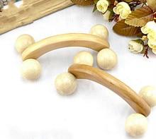 HANRIVER 2018 New natural wooden massager curved round body roller massager hands push bent round thin roller massager abdomen