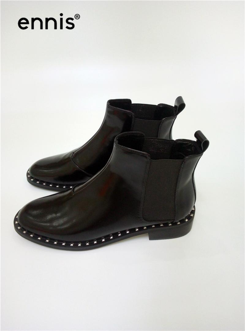 Ennis Marke Designer Nieten Stiefel Frauen Karree Chelsea Schuhe Aus ... a5b256a3c2