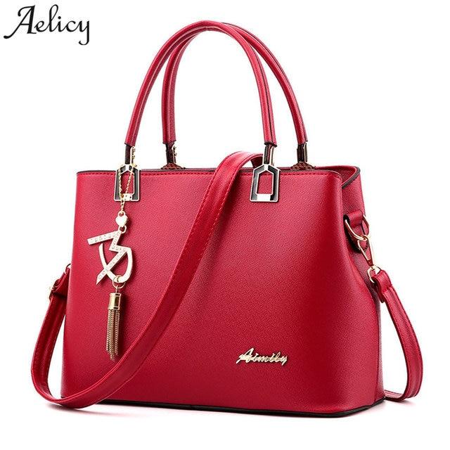 affa7a8f0766 Aelicy Women Leather Totes Bags Handbags Women Famous Brands Big Shoulder  Bag Female Vintage Satchel Bag Bolsa Feminina