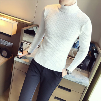 5 Colors Men Turtleneck Sweater