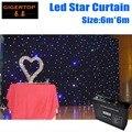 6 М * 6 М LED Звезда Ткань Супер Дело Настроить Свадебный Фон LED Одноцветные Звезда Ткань для ночной клуб LED Занавес Экран