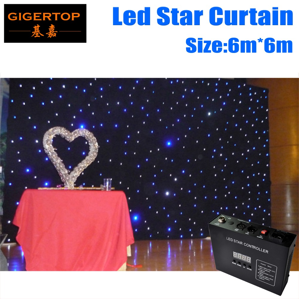 6M*6M LED Star Cloth Super Deal Customize Wedding Backdrop LED Single Color Star Cloth For Nightclub LED Curtain Screen