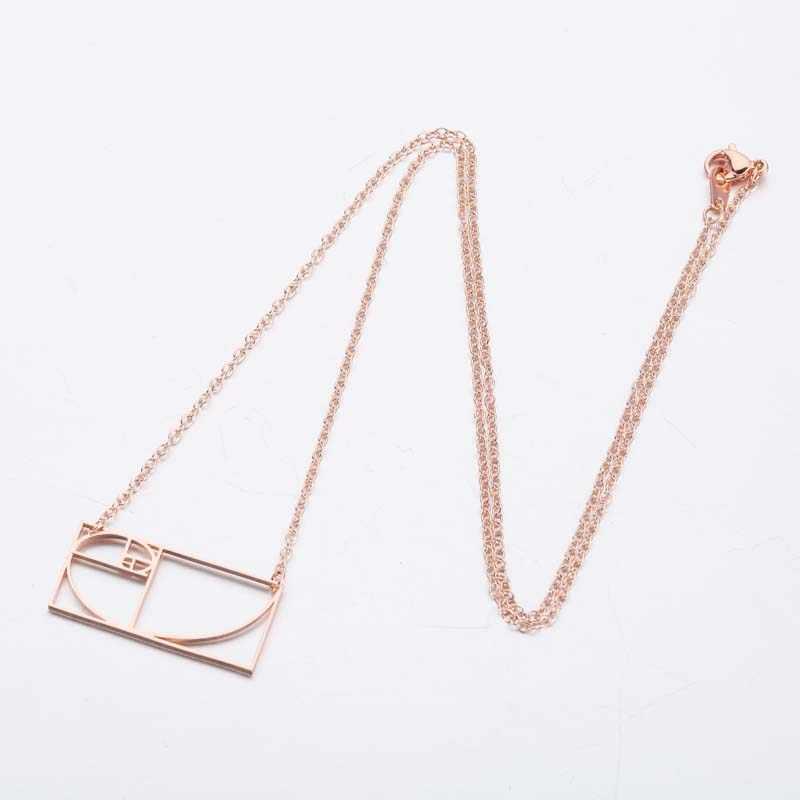 Yiustar Stianless Steel Gothic Geometric Pendants Necklaces Women Charms Mathematics Men Jewelry Colares Feminino Colgantes Gift