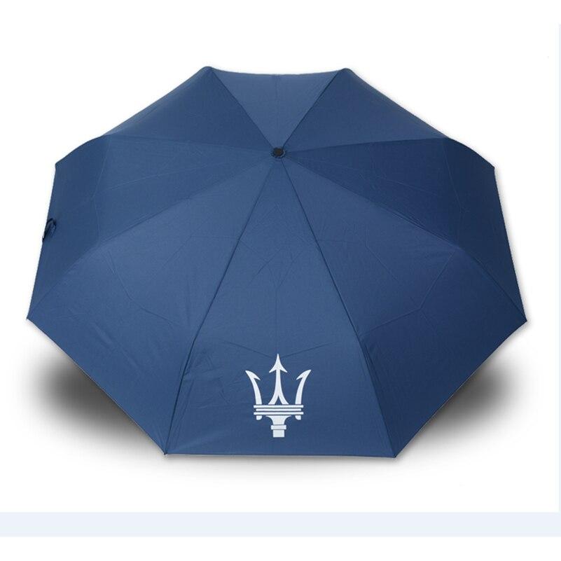 Fully-automatic Car Logo Big Umbrella <font><b>Suitable</b></font> <font><b>For</b></font> Two People <font><b>For</b></font> Maserati Quattroporte Ghibli Ghibli GranTurismo GranCabrio