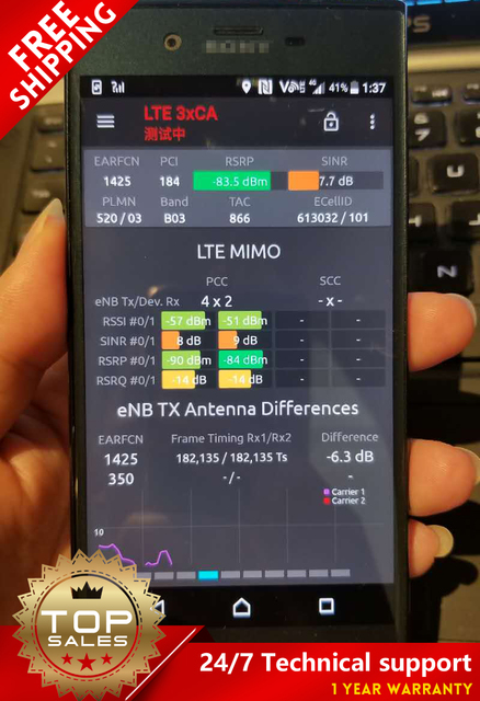 US $800 0 |Xperia XZ F8331 drive test Handset Support VoLTE / 3CA / MIMO  4*4 / PESQ & POLQA BAND LOCK / TEMS / handy / outdoor-in Mobile Phone  Antenna