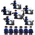 6 pçs/lote militar swat motim armas e táticas especiais super hero kid baby toy blocos define modelo de tijolo